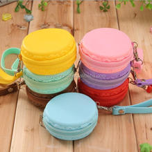 Fashion Korean style popular round zipper silicone box coin purse / Waterproof Change Purse Pouch Wallet
