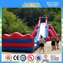 Funny outdoor industrial giant inflatable water slide for adult