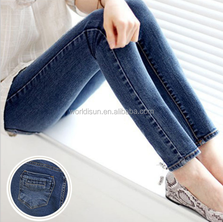 Women's Spring and Autumn Slim pencil stretch jeans