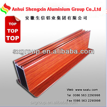 2015 Wooden grain aluminium extruded profiles with competitive price