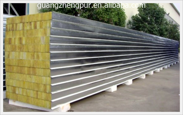 Thermal insulation fire rated stone wool sandwich wall panel