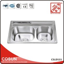 China Stainless Small Double Kitchen Sink for Camper