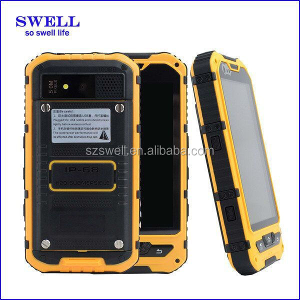 dual wifi TYPE-C walkie talkie android 5.1 smart phone NFC 4.3 inch high quality rugged waterproof cell phone