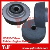 Excavator Parts for Kato HD250-7 Rear Rubber Engine Mount