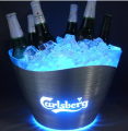 10L two-layer stainless steel LED ice bucket for bar