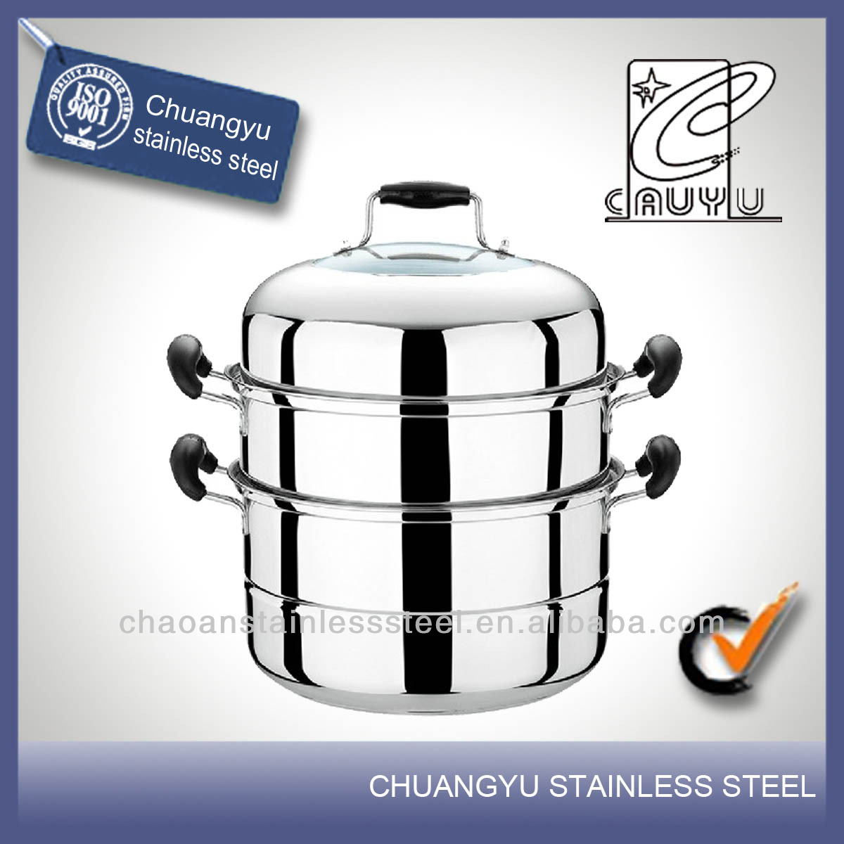 Stainless steel high quality stainless steel 30cm steamer on sale