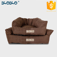 Soft fabric dog house dog sex dog bed cushion for back support