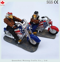 Custom Marked Polyresin Motorcycle Action Figure Resin Eagle Figurines