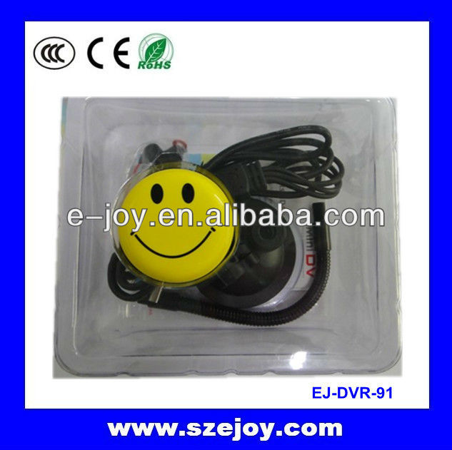 2013 Smallest EJ-DVR-91 hd Mini cam smile face