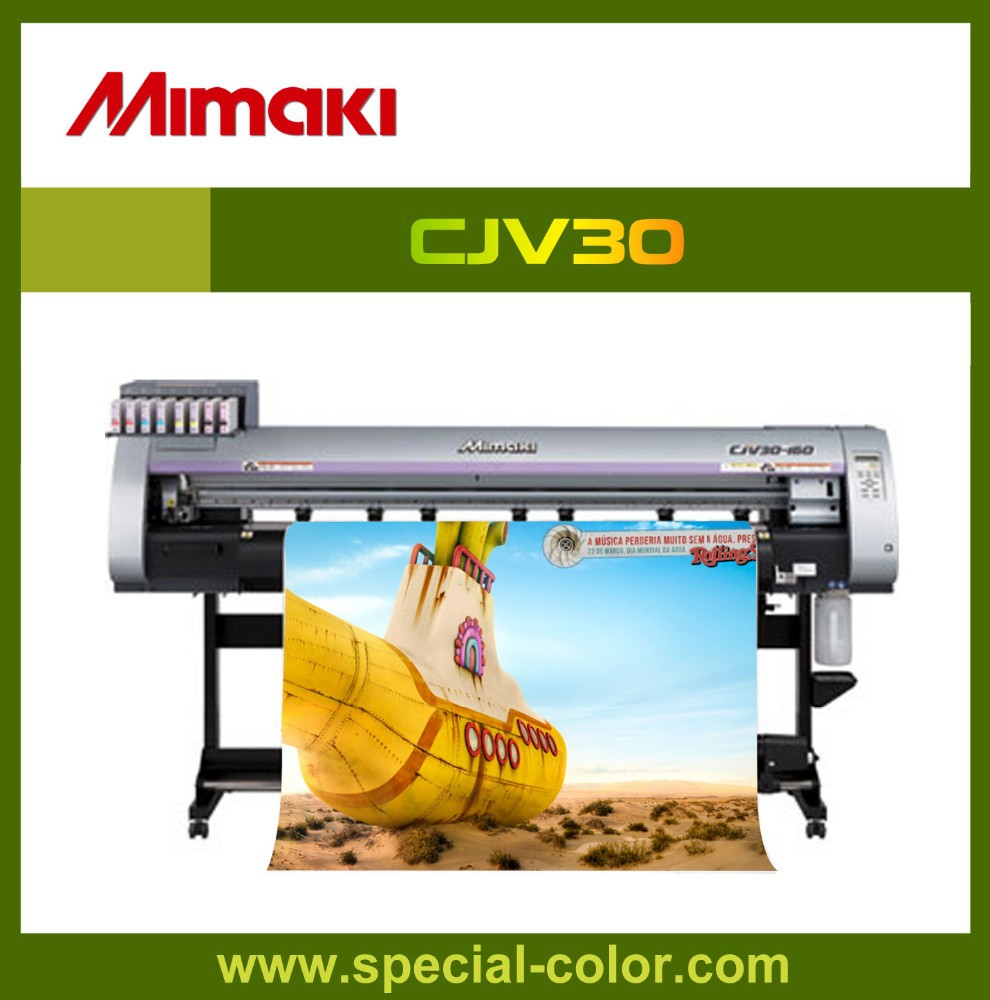 1.6 m Mimaki cjv30-160 eco solvent print and cut machine
