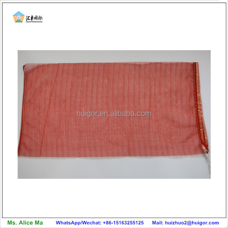 factory wholesale small PP woven red onion mesh bags with drawstring
