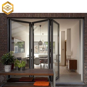 Cheap aluminum patio partition fold glass door