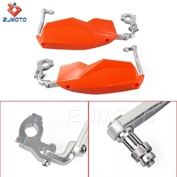 ZJMOTO Factory Price Orange 7/8 Inch Motorcycle Handguard Hand Guard For ATV Dirt Bike Street Bike