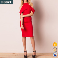 2016 Fashion Party Off Shoulder Dress Patterns Evening Red Dress
