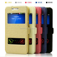 Mobile phone case for huawei honor 4c flip stand pu leather case hot sale silk pattern design