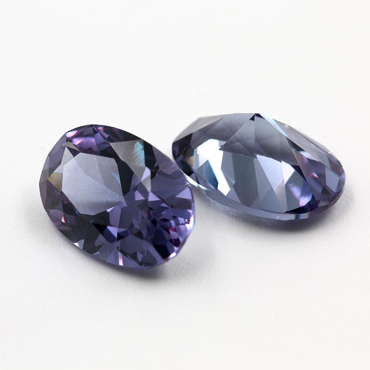 wholesale oval shape color change corundum gemstone