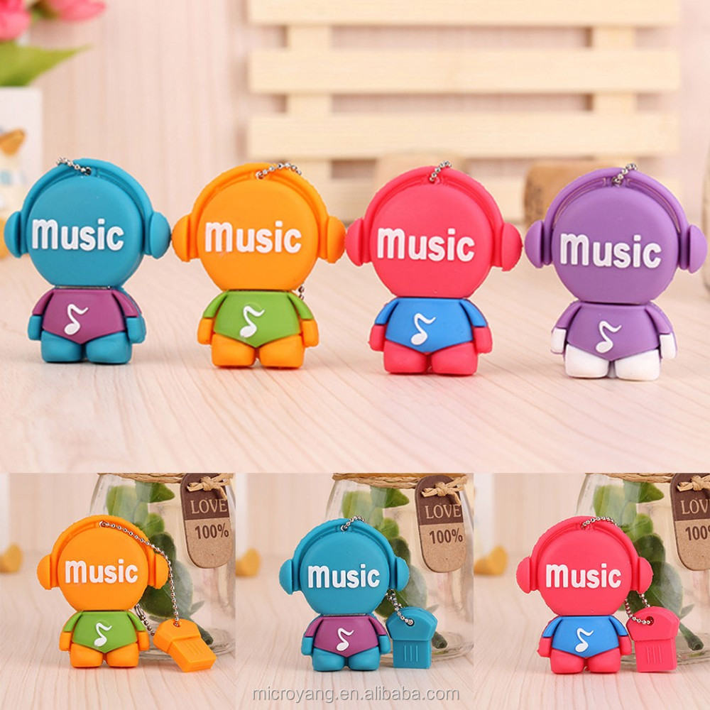 Cute Cartoon U Disk Flash USB 2.0 Pen Drive Storage 8GB 16GB 32GB Memory Stick USB Flash Drive