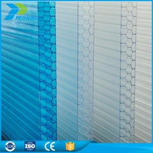 Honeycomb multiwall lexan plastic corrugated polycarbonate sheet