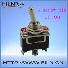 small on on 3 pin water proof toggle switch