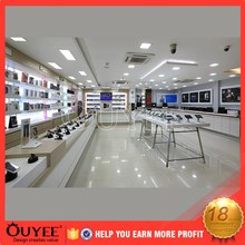ouyee 183 fire-proof retail shop interior design mobile phone charger storage case