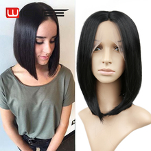 Black Lace Front Wig Heat Resistance Synthetic Fiber Hair Bob Wig With Combs Fashion Short Wigs For Women Trade insurance Sale
