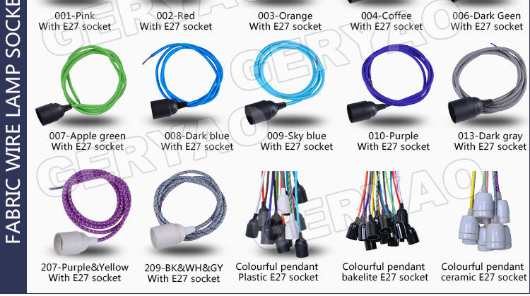 Denmark round fabric wire braided cable cloth covered electrical ...