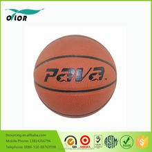 Cheap outdoor promotional custom printed rubber basketball