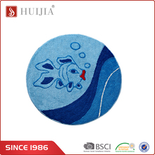 HUIJIA Factory Customized Washable Microfiber Fish Pattern Round Kitchen Area Rugs