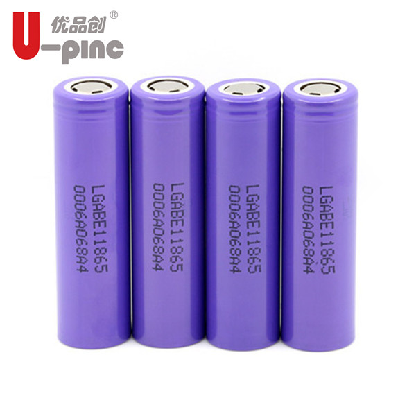 Latest rechargeable li-ion battery LG ICR 18650 E1 3200mah 3.7v cells