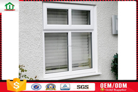 pvc casement window with blinds