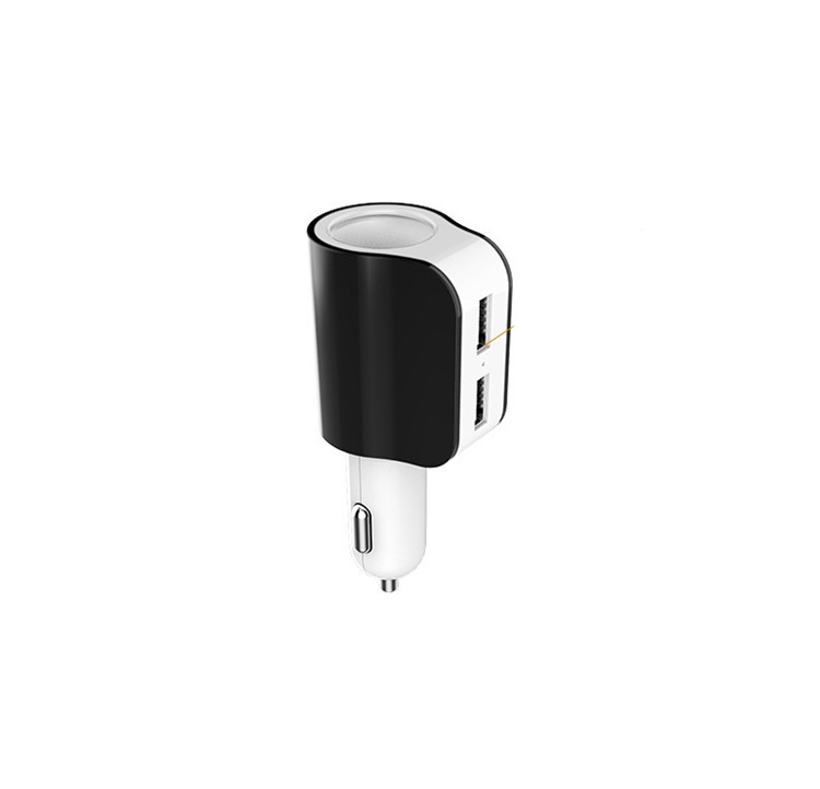 Multi-functions Car Socket Cigarette Lighter Dual USB Potable Car Phone Charger for iPhone