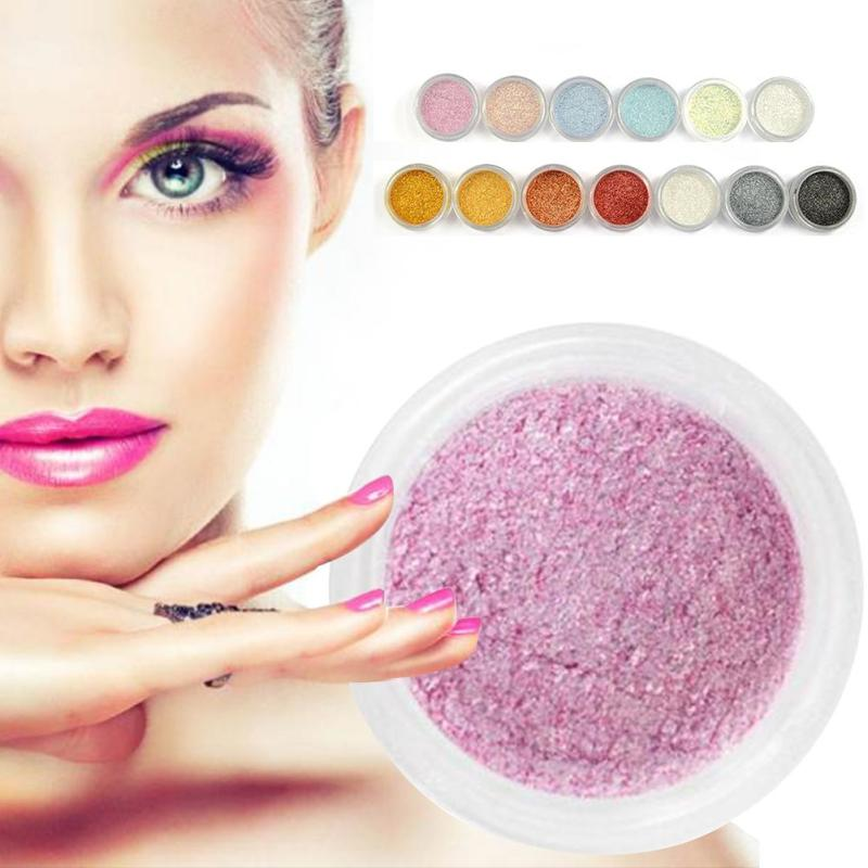 OEM Glitters Single Eyeshadow Diamond Rainbow Make Up Cosmetic Pressed Glitters Eye shadow Magnet Palette A6