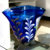 Custom made Hand made art mouth blown murano blue glass vase