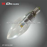 E12 E14 E27 B15 B22 dimmable led candle light