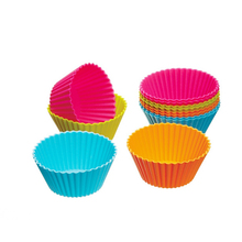 WB-FGBS1028 Reusable Silicone Cupcake Molds 2in 24 Pack - Small Baking Cups Truffle Cake Pan Set Nonstick in 6 Colors