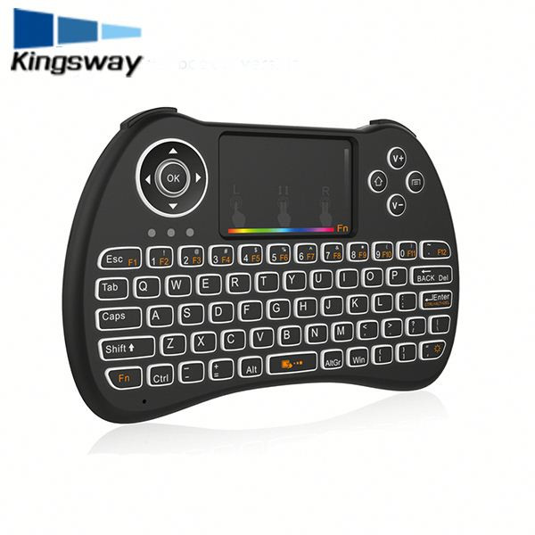 Cheapest arabic keyboard w/ Colorful backlight replacement H9 for kodi tv box