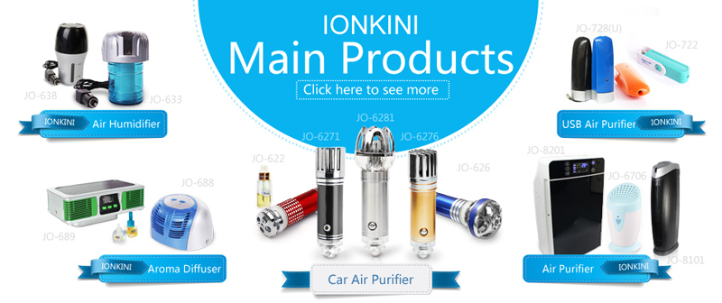 Ionkini 2-in-1 USB Air Purifier JO-728U (with 8GB Storage Memory)