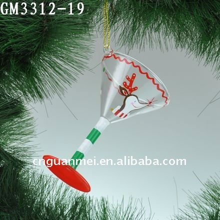 Wholesale hand painted hanging glass wedding decoration
