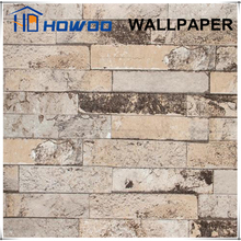 Howoo living room 3d wallpaper design brick vinyl wallcovering