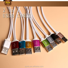 Best partner short two in one usb cable for power bank and digital device