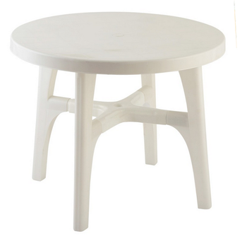 Best Selling Durable Using Outdoor Stackable Round Dining Table Plastic