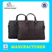 PU leather material mens quality laptop trolley bag