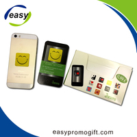 Promotional mobile phone screen cleaner stickers with logo printing