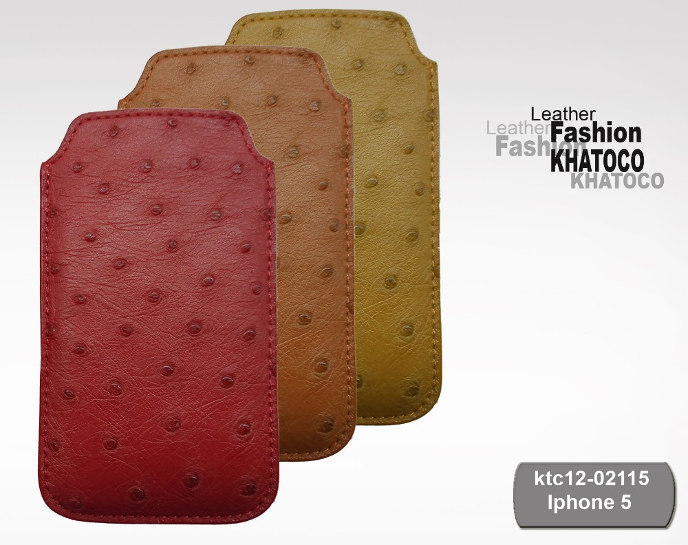 KHATOCO Ostrich Leather Phone Cover 02115