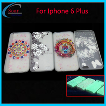 Custom design Printed Mobile Phone TPU Case for Iphone 6 plus,3D Relief glow in dark soft gel case for Iphone 6 plus