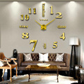 Quartz Sweep wall Clock movement with lower noise design 100CM 3D DIY Large Wall Clocks Mirror Wall Sticker Clock Decoration Art