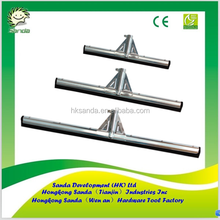 serrated rubber blade straight steel frame broom and squeegee