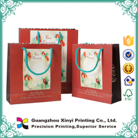 China supplier hot sale door gift paper packing bag with logo
