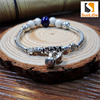 beauty accessories ceramic bracelet beads silver jewelry plating