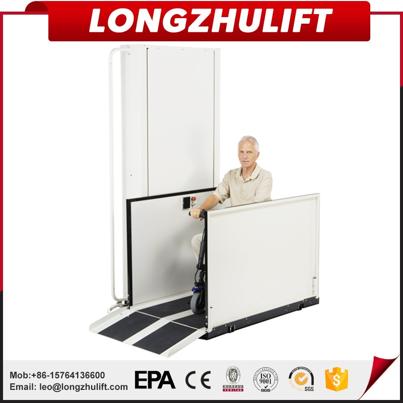 Electric hydraulic vertical wheelchair lift platform for disabled people